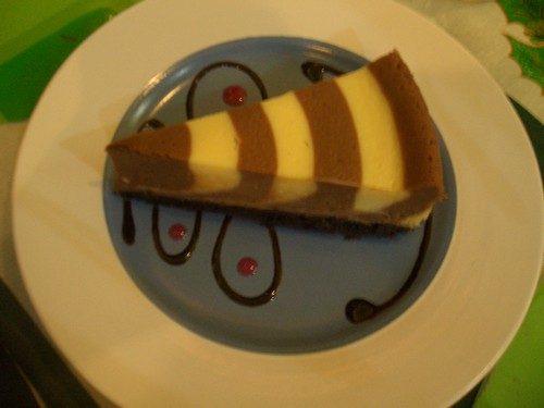 Choco-Vanilla CHeesecake by Lachi's Sans Rival Atbp. Photo aken in 2007.