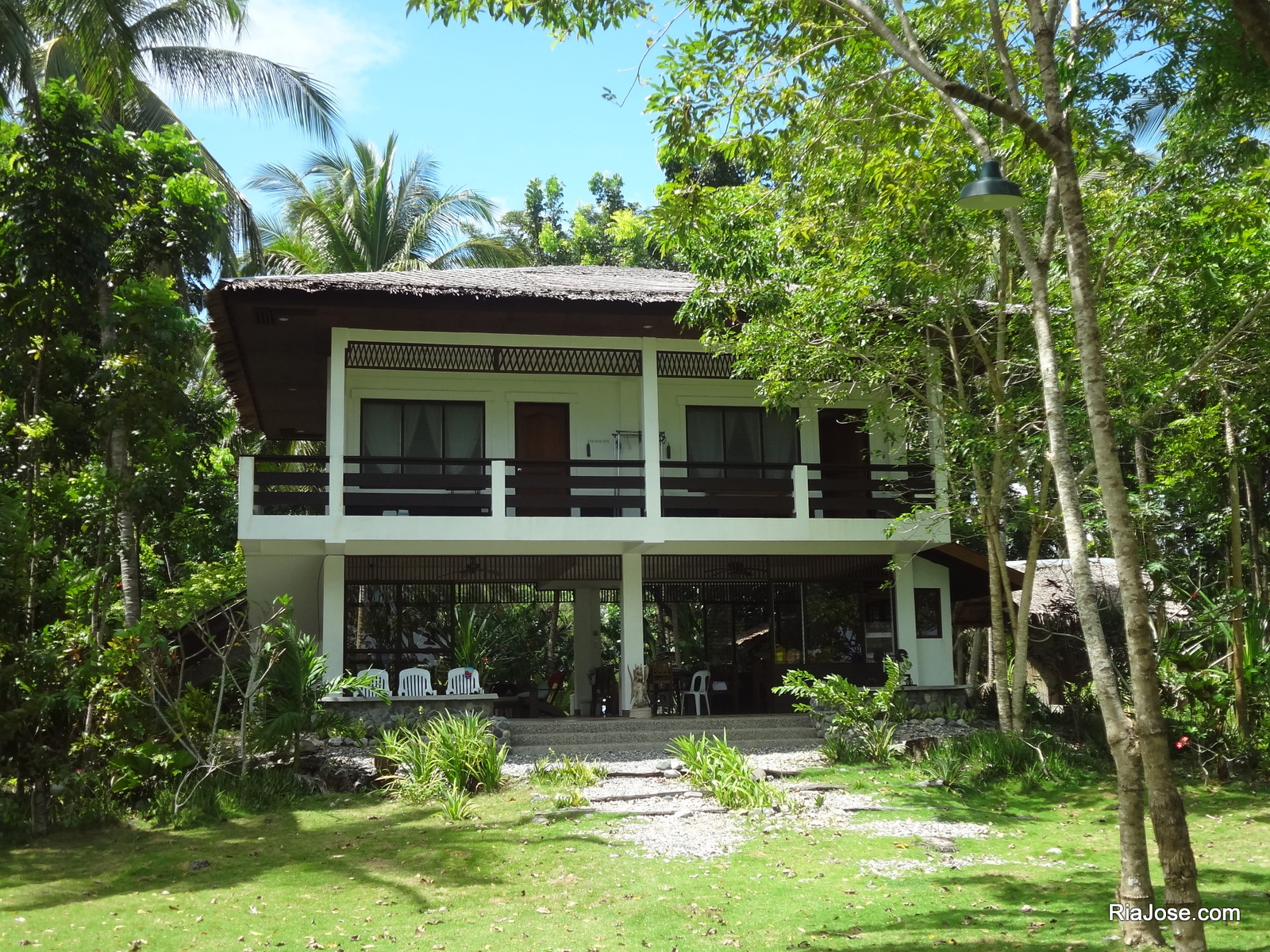 One of the houses in Kanakbai in Dahican, Mati, Davao Oriental