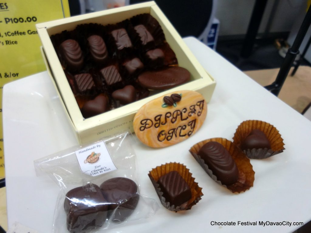 Chocolate Bonbons by the Chocolate Bean at the SM City Davao Chocolate Festival