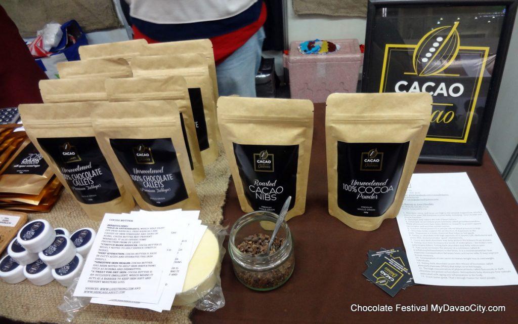 Cacao de Davao Products at the SM City Davao Chocolate Festival