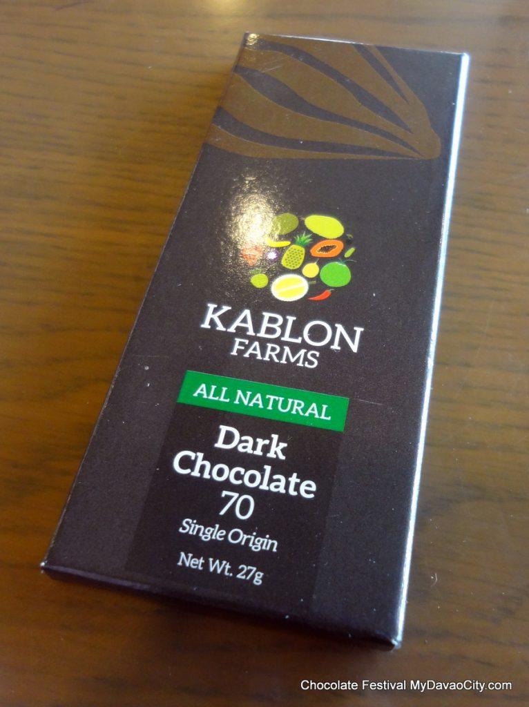 Kablon Farms 70% Single Origin Dark Chocolate Bar by Kablon Farms at the SM City Davao Chocolate Festival