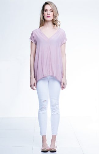 Angela Top by Canvas available at Chimes Boutiques paired with Jeans