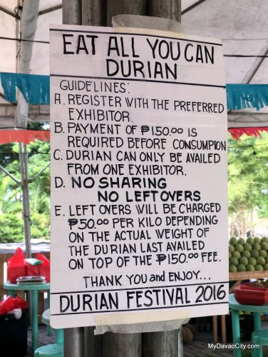 Eat-All-You-Can Durian at the Kadayawan Durian Festival 2016 at SM Lanang Premier