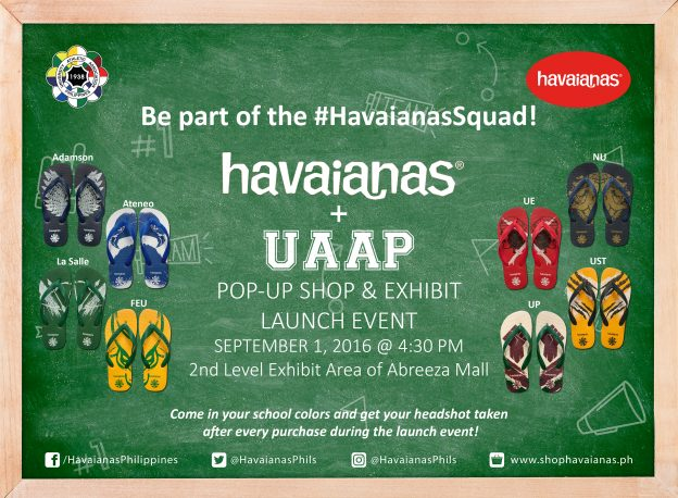 Havaianas UAAP Pop Up at Abreeza Ayala Mall