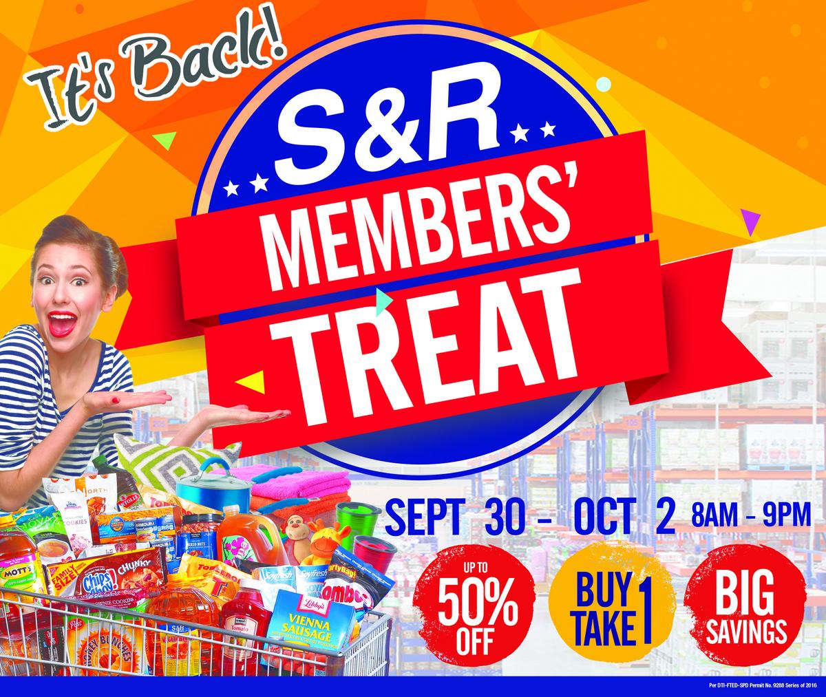 S&R Members' Treat Sale 2016