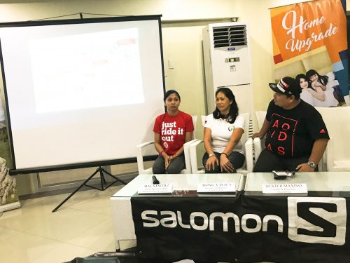 Mae Sanchez of Primer Group, Monica Ayala of Cycle for Life, and Dexter Maxino of Sikad Davao at the ROX Bike Out Davao Press Conference
