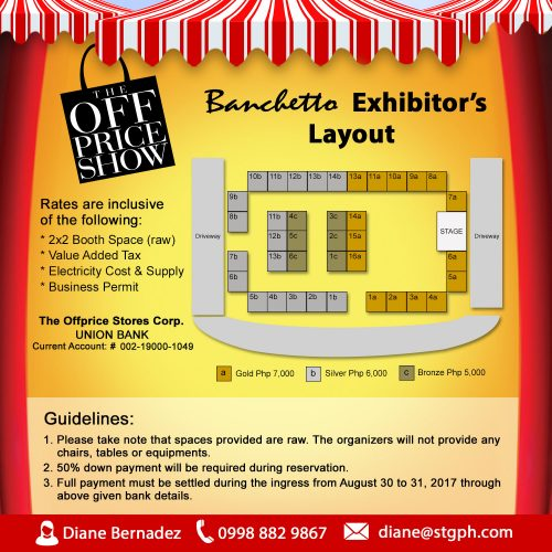 The Off Price Show 2017 Davao Banchetto Layout