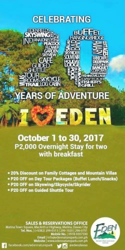 Eden Nature Park Davao 20th Year Promo
