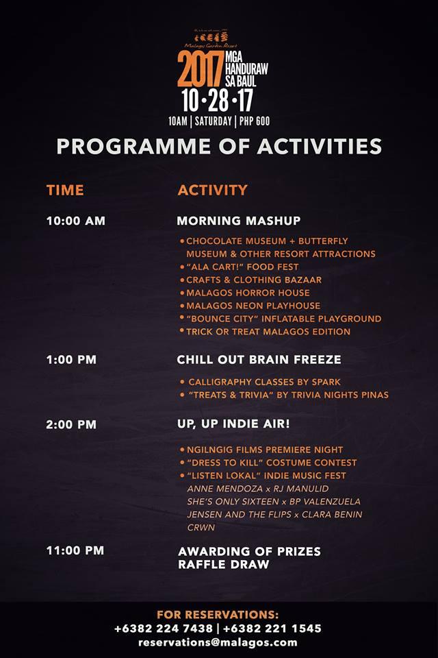 Mga Handuraw sa Baul 2017 Programme
