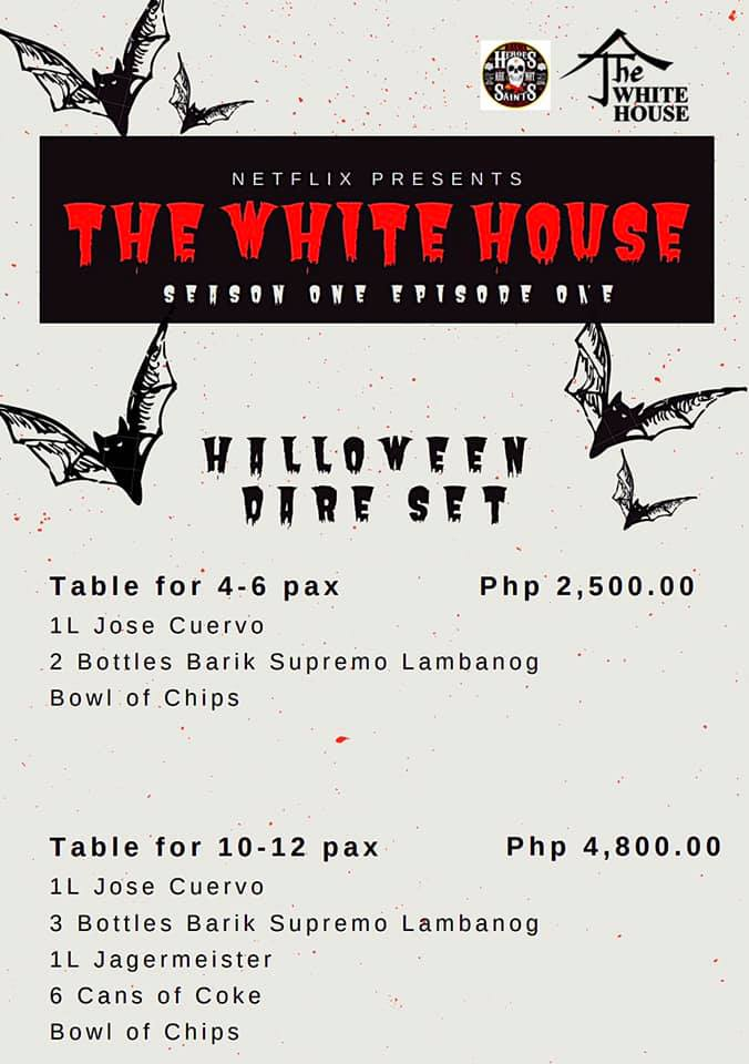 Halloween Party Packages.The White House Halloween Party 2019 Packages My Davao City